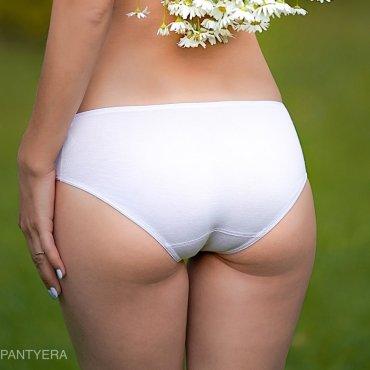 Женские трусы Белые трусики из бамбука